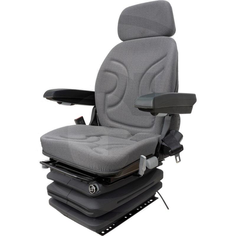 Traktorová sedačka Granit vzduchové odpružení PVC potah s otočnou deskou