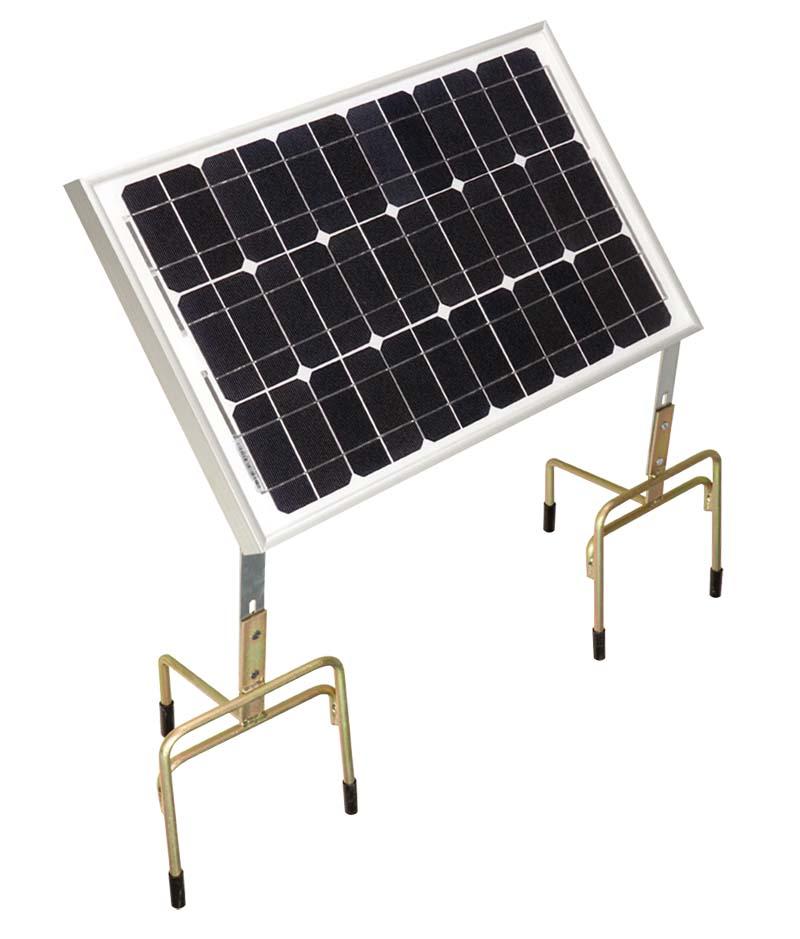 CLOTSEUL solární panel 30W pro bateriové zdroje na elektrický ohradník na dvou nožičkách