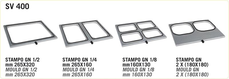 Rámeček na misky a gastronádoby GN 1/8 160×130 pro zatavovací baličku HORECA SV 400