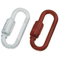 Karabina plastová tloušťka 6 mm pro výstražný řetěz červená a bílá balení 2 ks