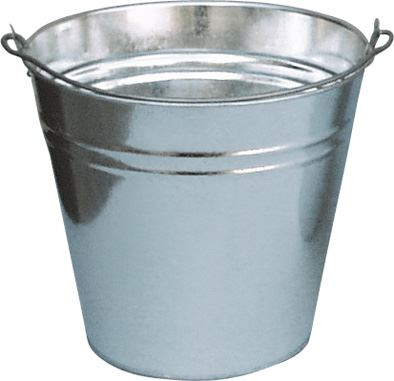 Vědro na vodu plechové pozinkované ve 4 velikostech