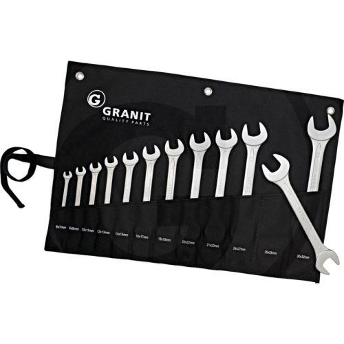 Sada ploché klíče 6-32 mm Granit BLACK EDITION 12-dílná srolovatelné pouzdro