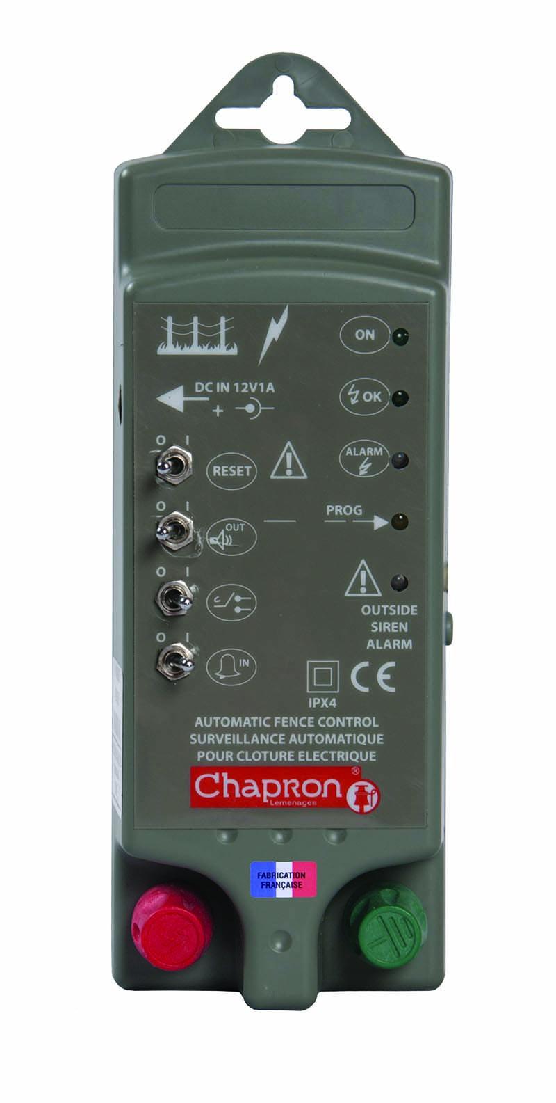 Chapron SATURNE alarm pro hlídání napětí a uzemnění elektrického ohradníku