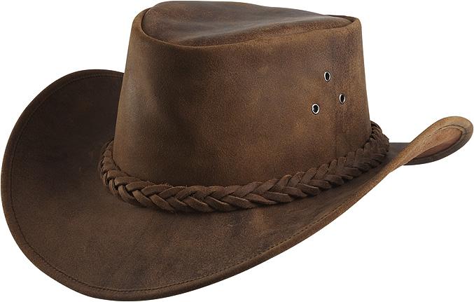 Westernový klobouk RANDOL'S Antique kožený hnědý L