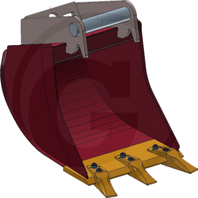 Hluboká lžíce řady ULTRALEICHT se 2 šroubovacími zuby šířka 250 mm objem 17 l přípoj MS01