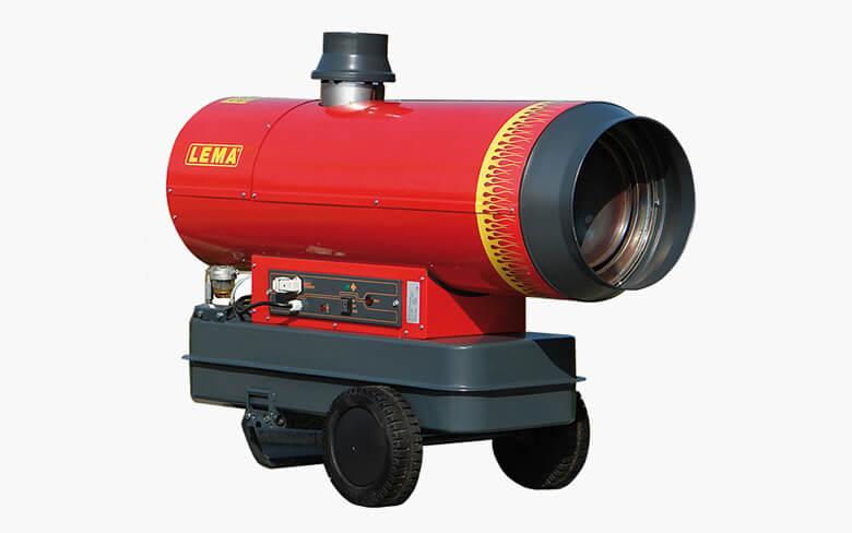 Venkovní naftové topidlo LEMA iFLAME 80, mobilní topné dělo s nepřímým spalováním, 80kW