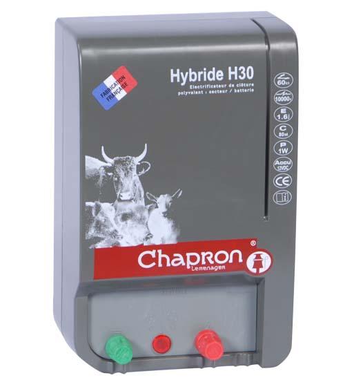 Chapron HYBRIDE H30 kombinovaný zdroj napětí pro elektrický ohradník 12V/230V, 2,3J