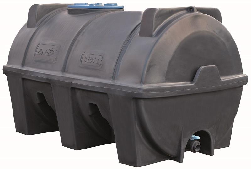 Cisterna na vodu plastová stohovatelná La Gée Monobloc 3100 l pro kapaliny do 1200 kg/m3