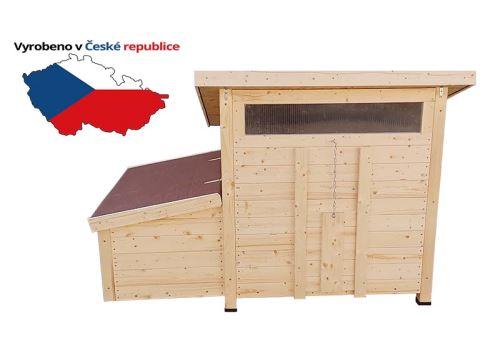 Zateplený dřevěný kurník pro slepice Vranov1