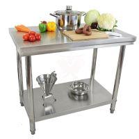 Nerezový pracovní stůl Beeketal BA100 gastro 1000 x 600 x 840 mm do kuchyně