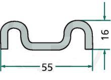 Hřeblová lišta na rozmetadlo hnoje Krone M-profil děrovaný délka 1650 mm
