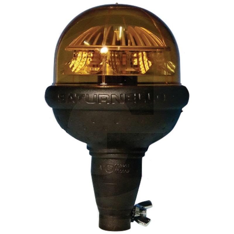 LED maják CEA Saturnello oranžový výstražný 12V/24V 9W na nástrčnou trubku