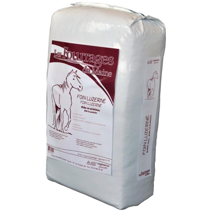 Balené seno s vojtěškou pro koně, skot, ovce a kozy ve vysoké kvalitě Foin Luzerné 11kg