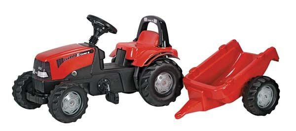 Rolly Toys - šlapací traktor Case s vozíkem modelová řada Rolly Kid