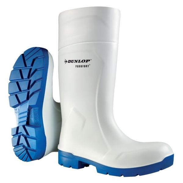 Bílé gumové holínky Dunlop FoodPro S4 pracovní potravinářské velikost 48