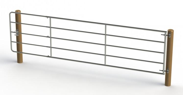 Kovová pastevní brána délkově stavitelná 4 až 5 m