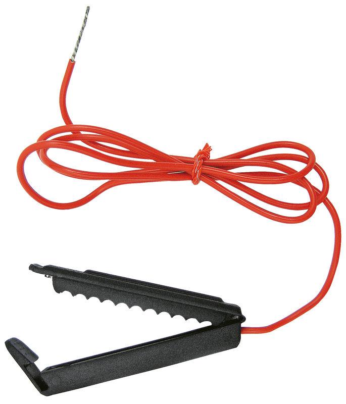 Připojovací kabel k elektrickému ohradníku pro drát, lanko, pásku i síť