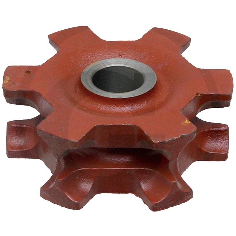 Řetězka na rozmetadlo hnoje Mengele tvar B řetěz 8×31 mm 5 zubů děrování 40 drážka 10 mm