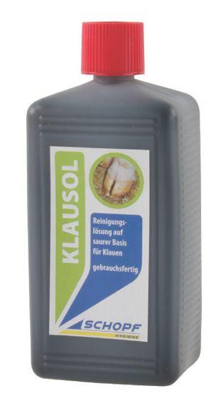 Čistící roztok na paznehty na kyselé bázi KLAUSOL 500 ml