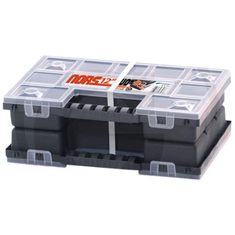 Plastový box na drobné díly, hřebíky, šrouby 344 x 249 x 50 mm odnímatelné přepážky