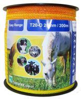 Ohradníková páska žlutooranžová EASY RANGE T20-O 20 mm / 200 m