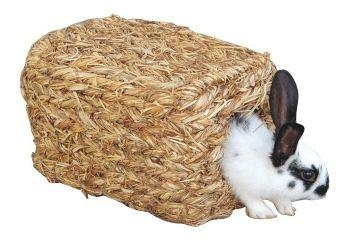 Domek splétaná tráva pro králíky a hlodavce - rozměry 26 x 17 x 15 cm