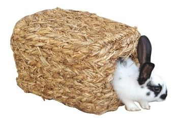 Domek splétaná tráva pro králíky a hlodavce – rozměry 26 x 17 x 15 cm