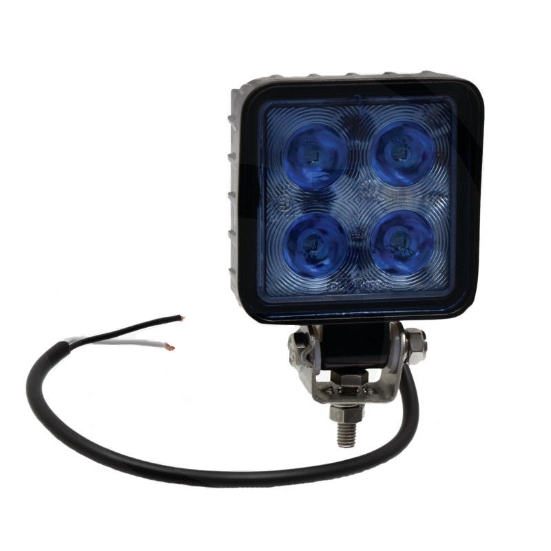 Modrý LED pracovní světlomet 12V a 24V světelný tok 1200 lm pro postřikovač