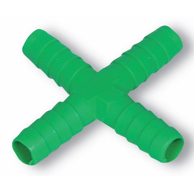 X spojka kříž na hadičku 9 mm pro hadičkové rozvody k napáječkám pro králíky a drůbež