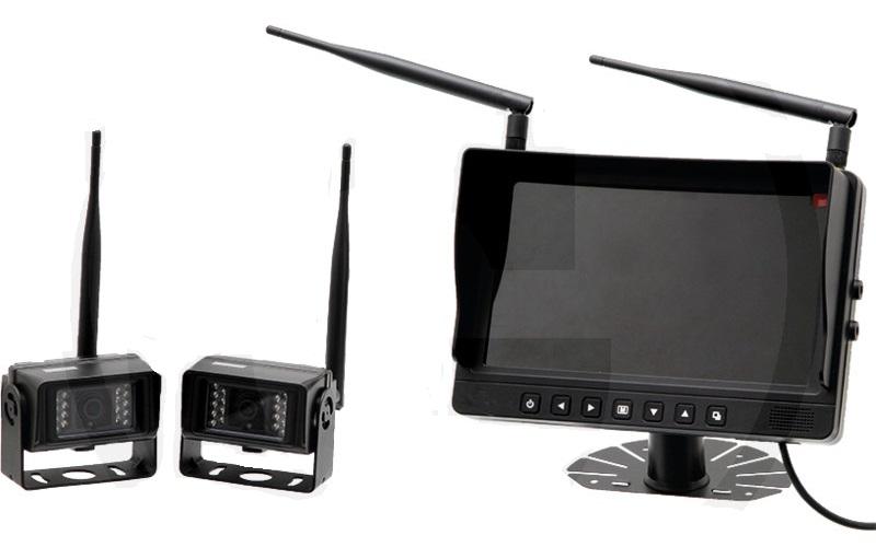 """2 bezdrátové kamery a kamerový systém s barevným LCD monitorem 9"""""""