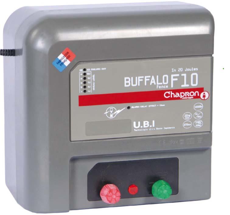 Chytrý síťový zdroj pro elektrický ohradník Chapron Buffalo F 10 napětí 230V, 10 J