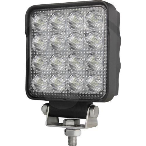 LED pracovní světlomet hranatý 16 High Performance LEDs 12V a 24V 2500 Lumen