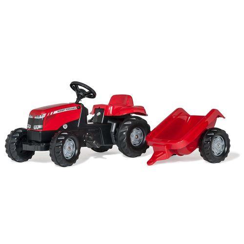 Rolly Toys - šlapací traktor Massey Ferguson s přívěsem modelová řada Rolly Kid