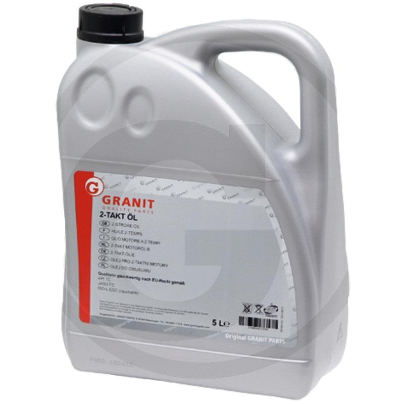 Olej do dvoutaktních motorů Granit 5 l samosmísitelný polosyntetický HC