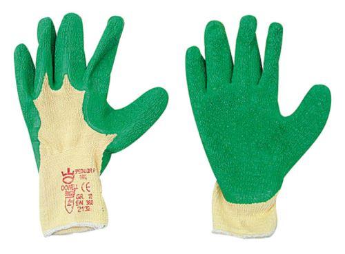 Lesnické rukavice latexové velikost 9