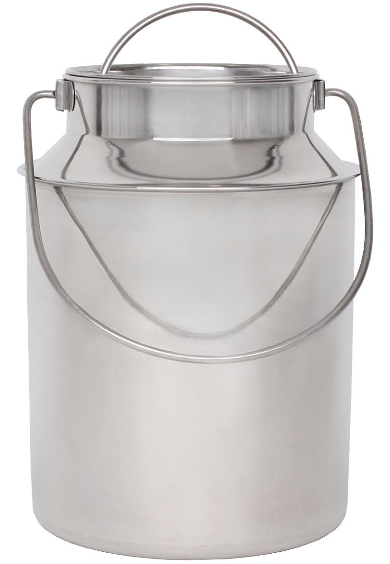 Nerezová konvička, bandaska na mléko BEEKETAL BMK-10 na 8,7 l včetně víka