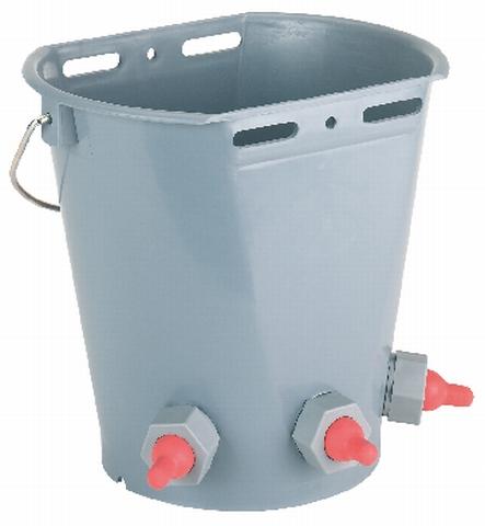 Napájecí kbelík 8l pro jehňata a kůzlata 3 dudlíky