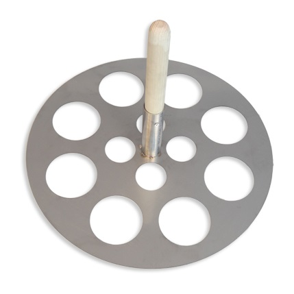 Perforovaný nerezový disk na potápění drůbeže do profi pařících kotlů Dominion