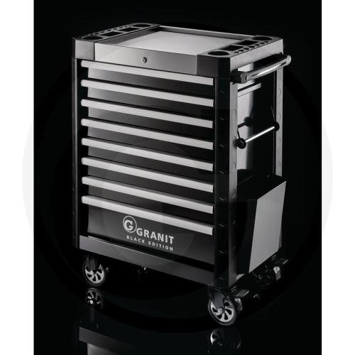 Dílenský vozík na nářadí DYNAMIC Granit BLACK EDITION pojízdný 8 zásuvek bez nářadí