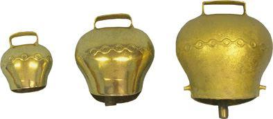 Pastevní zvonec plechový, pomosazený průměr 110 mm