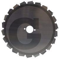 Pilový list do křovinořezu šířka řezu 200 mm otvor 25,4 mm 22 zubů kotouč na prořezávání