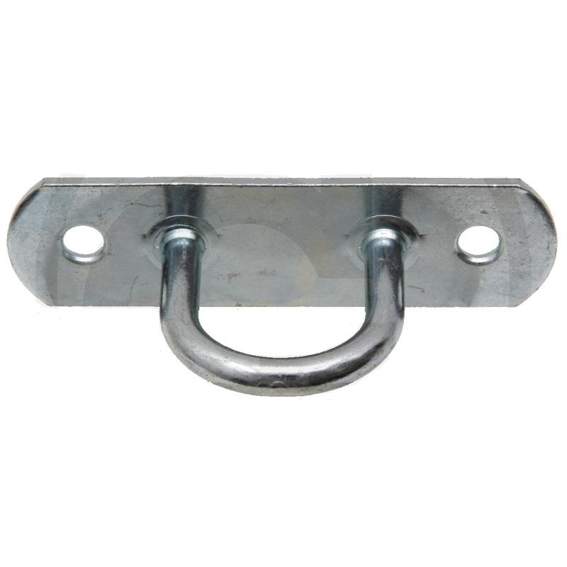Plachtový třmen rovná deska se 2 otvory pro oka 40 a 42 x 22 mm světlost oka 25 mm