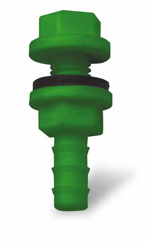 Redukce k tanku, vývod z nádržky plastový pro hadičkové napájecí rozvody 9 mm