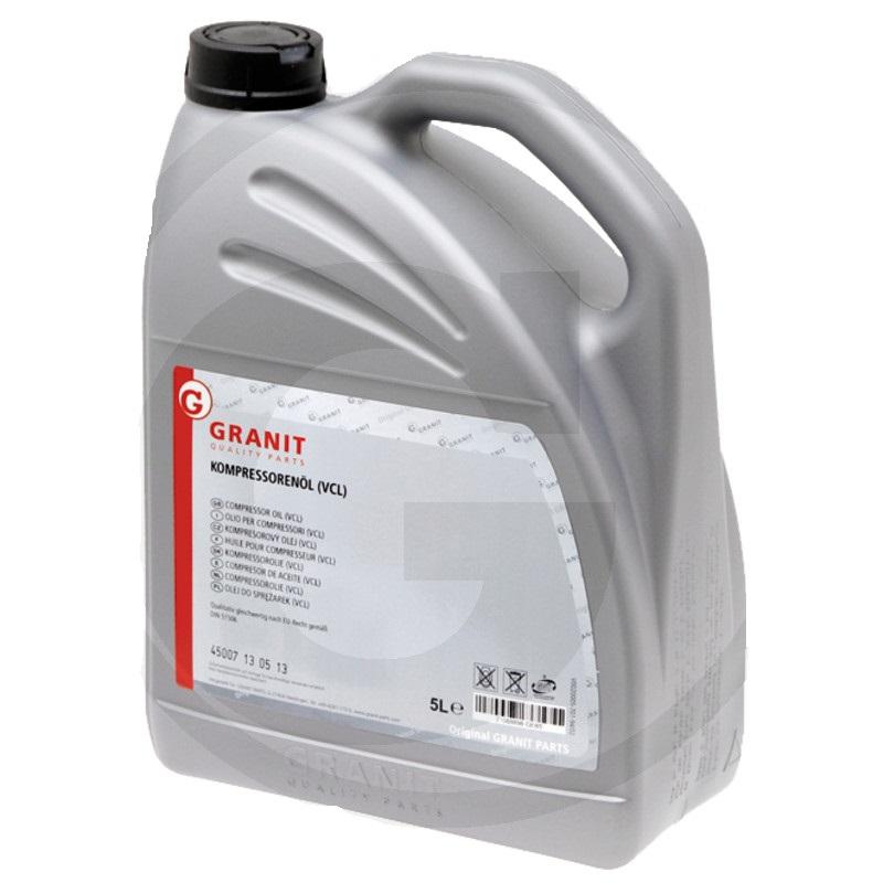 Kompresorový olej Granit VCL 100 DIN 51 506 pro kejdové kompresory 5 l
