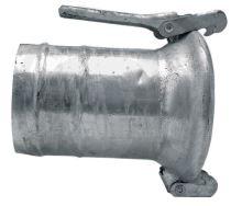 """Berselli Ital díl samice 5"""" A=125 mm spojky pro fekální vozy s hadicovým nátrubkem"""