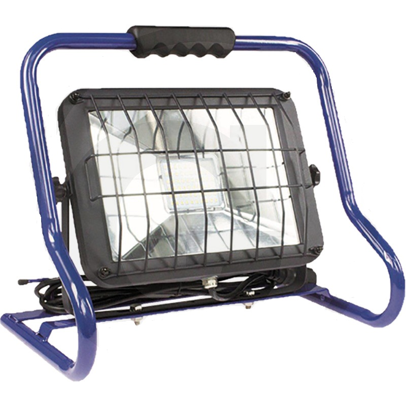 LED mobilní reflektor 4250 Lumen = cca 300W s ochrannou mřížkou 2 zástrčky na zadní straně