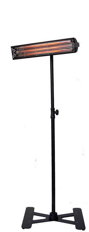 Infrazářič stojanový SYNER LPC 1000 W černý na 6 m3 do dílny,  venkovní na terasu