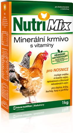 Nutrimix pro nosnice, vitamíny pro slepice, krůty, kachny, husy, perličky