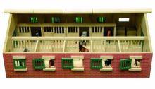 Kids Globe - stáj pro koně s 10-ti boxy 1:32