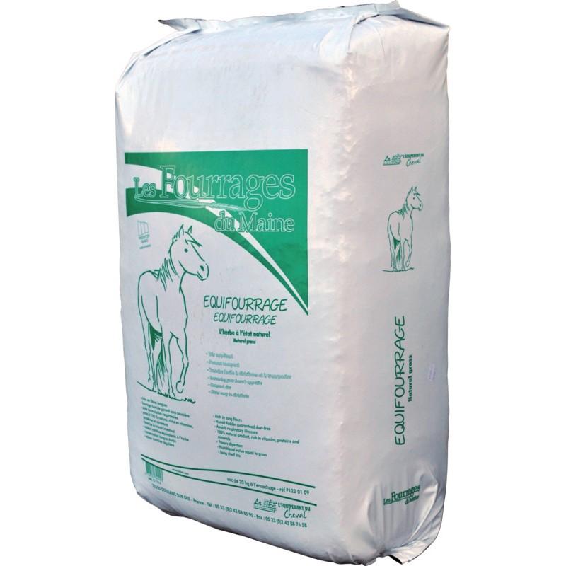 Balená senáž pro koně, skot, ovce a kozy Equifourrage 19 kg z kvalitní mladé luční trávy